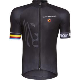 Bioracer Van Vlaanderen Pro Race Koszulka rowerowa z zamkiem błyskawicznym Mężczyźni, czarny